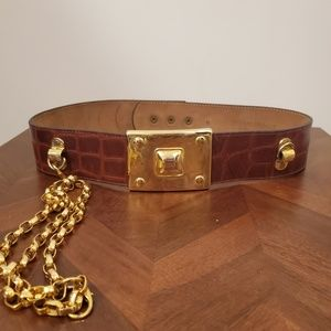 Streets Ahead Croc Embellished belt size medium